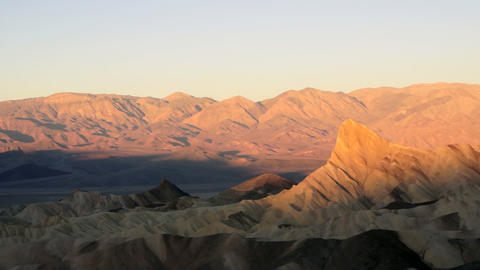Sunrise Badlands Amargosa Range Death Valley Zabriskie Point Footage