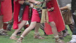 Roman Legionaries 15 stock footage