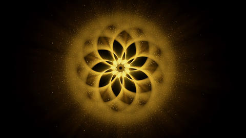 Golden Ornamental Round Pattern, Mandala Animation, Festive Background Animation