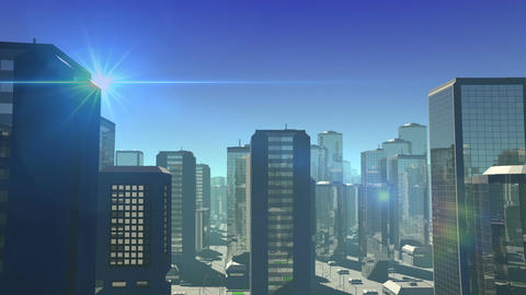 Futuristic City stock footage