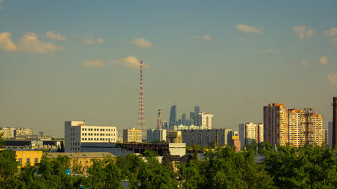 Moscow City Time Lapse Footage Footage