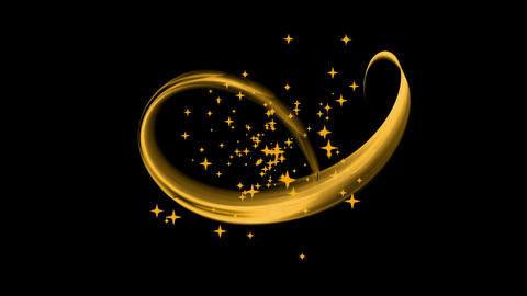 Festive Background with Stars, Golden Stream, Circular Motion Animation