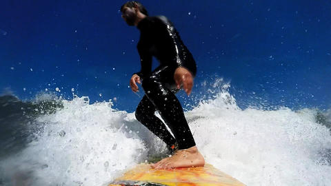Surfing in Waves Footage