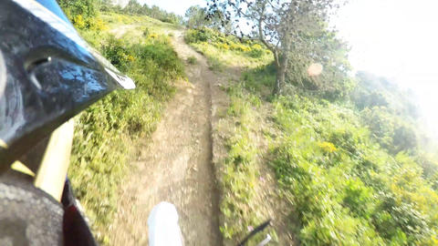 Enduro Bike Rider POV stock footage