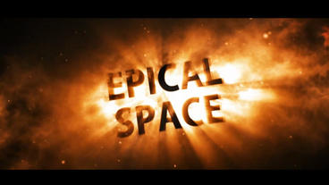 Epical Space Red Version After Effects Project