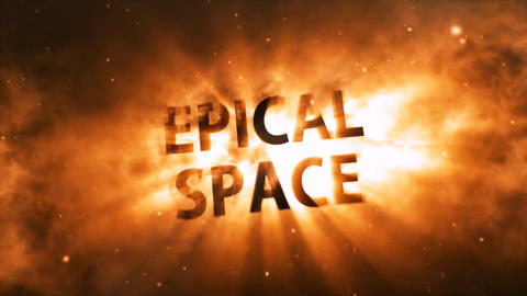 Epical Space Red Version After Effects Template