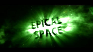 Epical Space Green Version After Effects Template