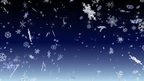 Snow Flake falling Bw 4k Animation