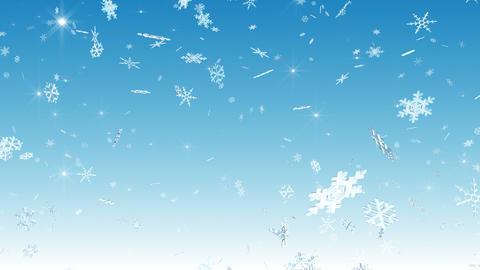 Snow Flake falling Cw 4k Animation