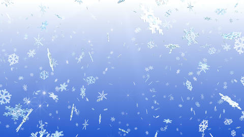 Snow Flake falling Dw 4k Animation