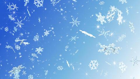 Snow Flake falling G 2w 4k Animation