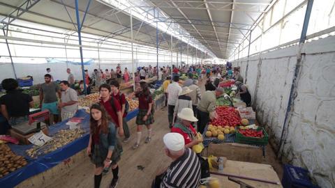 Fethiye Local Market stock footage