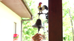 Ringing The House Rustic Bell Footage
