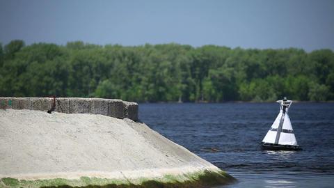 Fairway on the river Volga Footage