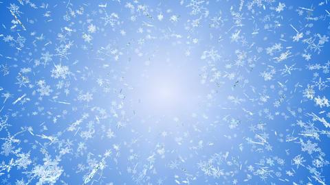Snow Flake front B Cw 4 K, Stock Animation