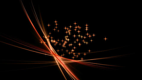 Festive Background with Stars, Red Stream, Circular Motion Animation
