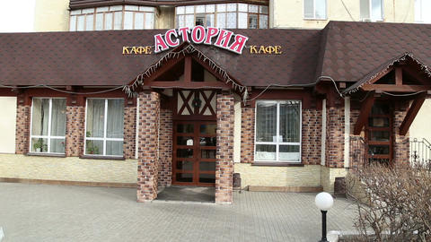 The Building Of A Cafe In Russia stock footage