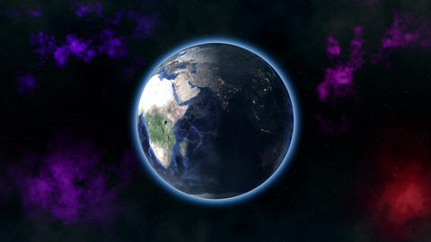 Earth zoom out 4K Animation