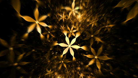 Whirlpool of yellow flowers, floral background Animation