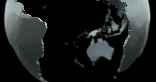 4K 3D Globe Matte / Alpha - Fill V3 stock footage