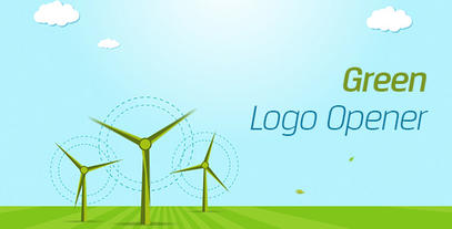 Green Logo Opener After Effects Template