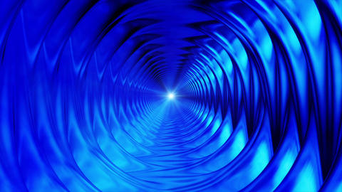 Broadcast Endless Hi-Tech Tunnel, Blue, Industrial, Loopable, HD Animation