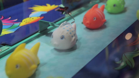 Fishs at a carnival game Footage