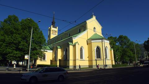 The church, temple in the Old Tallinn. Estonia. 4K Footage