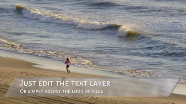 Clean Glass Tiles Lower Thirds Plantilla de After Effects