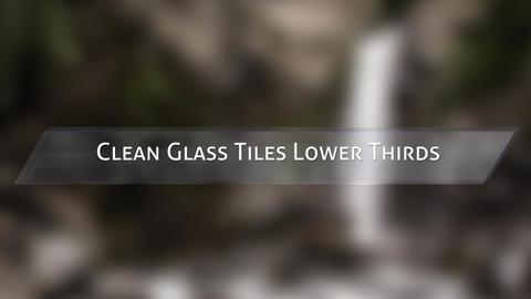 Clean Glass Tiles Lower Thirds After Effects Template