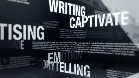 Copywriting, Advertising Related Terms Animation