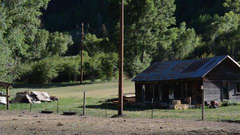 Old Ranchhouse Camera Pan stock footage