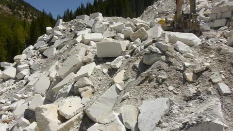 Aerial marble mine exterior 1 Footage