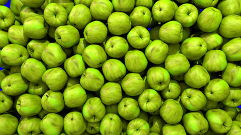 Apples green fill screen transition composite overlay… Stock Video Footage