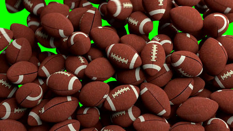 American footballs fill screen transition composite overlay Animation