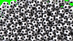 Soccer footballs fill screen transition composite overlay Animation