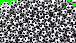 Soccer footballs fill screen transition composite overlay Animation