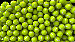 Tennis balls fill screen transition composite overlay Animation