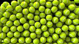 Tennis balls fill screen transition composite overlay Animation