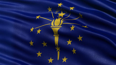 4K Indiana state flag seamless loop Ultra-HD Animation