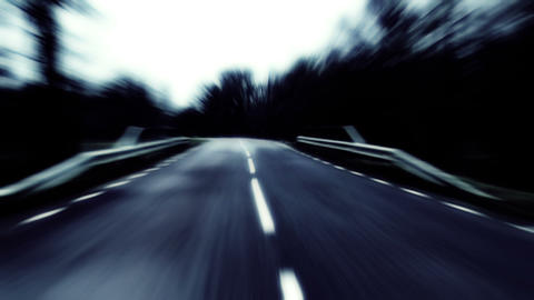 Speeding On A Country Road stock footage