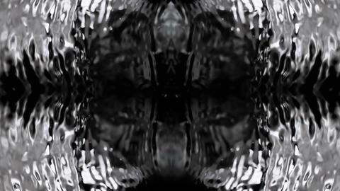 Circle Water Kaleidoscope Loop Texture Stock Video Footage