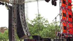 Concert Outdoor Stage Pan Over stock footage