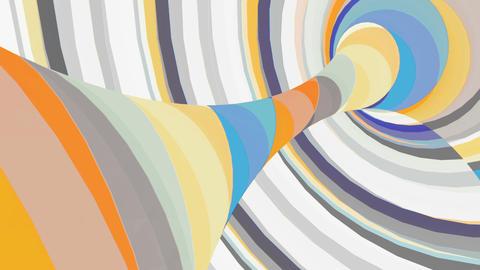 Multicolored motion torus. Loop animation Animation