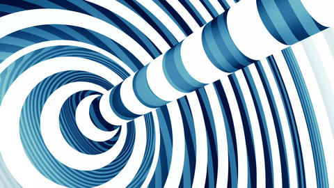 Blue and white torus loop animation Animation