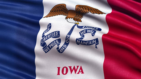 4K Iowa state flag seamless loop Ultra-HD Animation