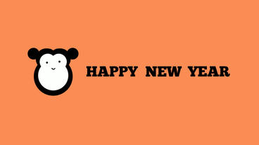 Happy New Year 2016 With Monkey stock footage