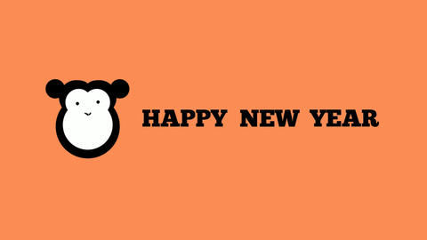 Happy new year 2016 with monkey After Effects Template