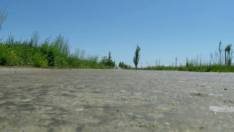 The Car On Bad Pavement stock footage