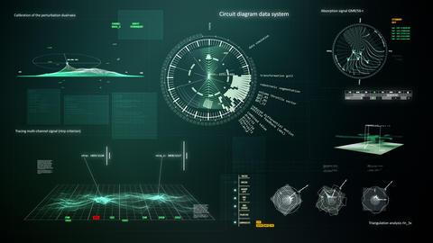 Computer interface 2 loop Animation